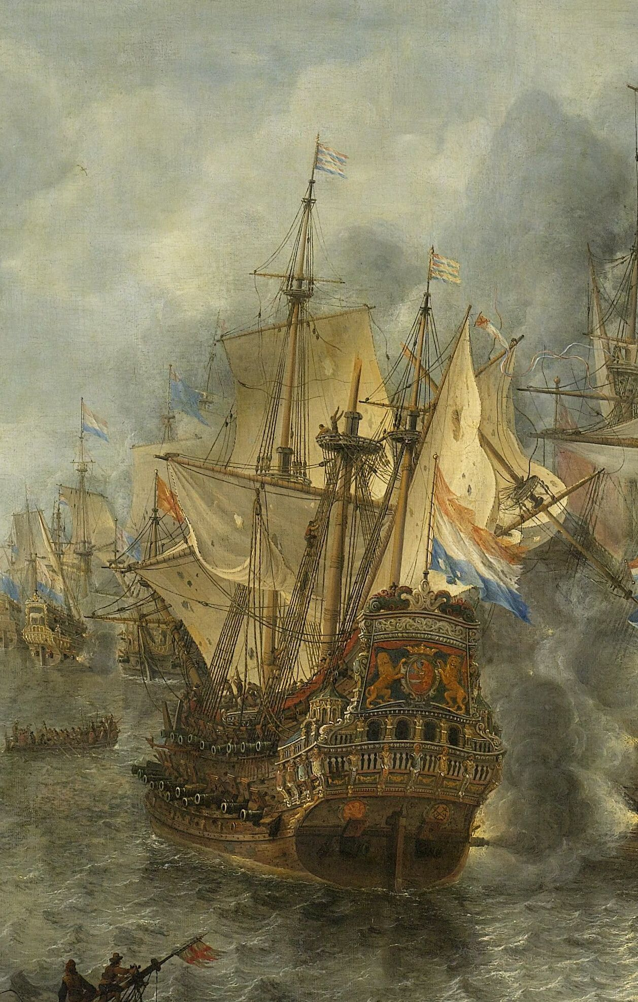"Jan Abrahamsz Beerstraaten, detail from ""The Battle of Scheveningen"" (10  August 1653), between 1653 and 1666"