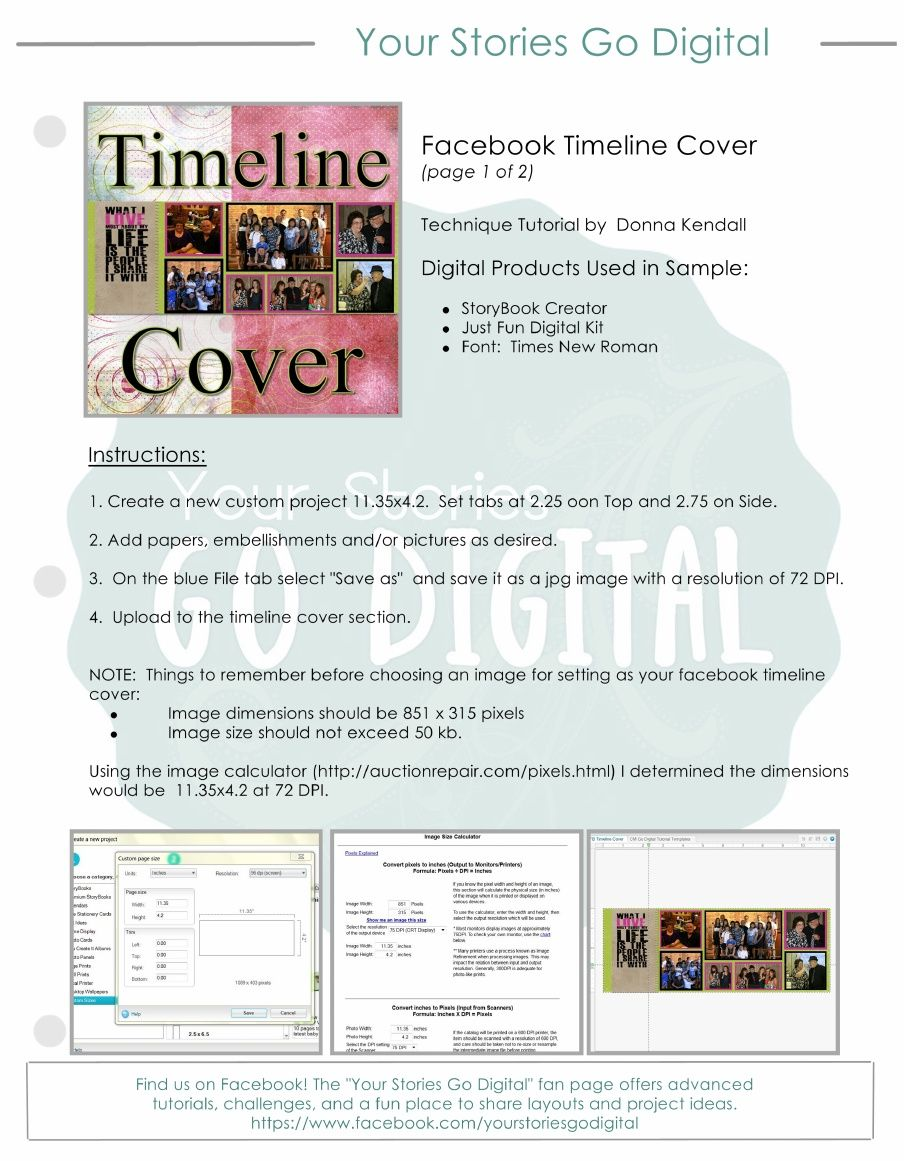 Facebook Timeline CoverPdf  Everyday Craft Projects
