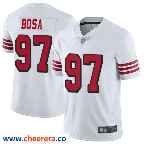 f4f3025b1 Men's Nike San Francisco 49ers #97 Nick Bosa White Throwback Limited Vapor  Untouchable Football Jersey