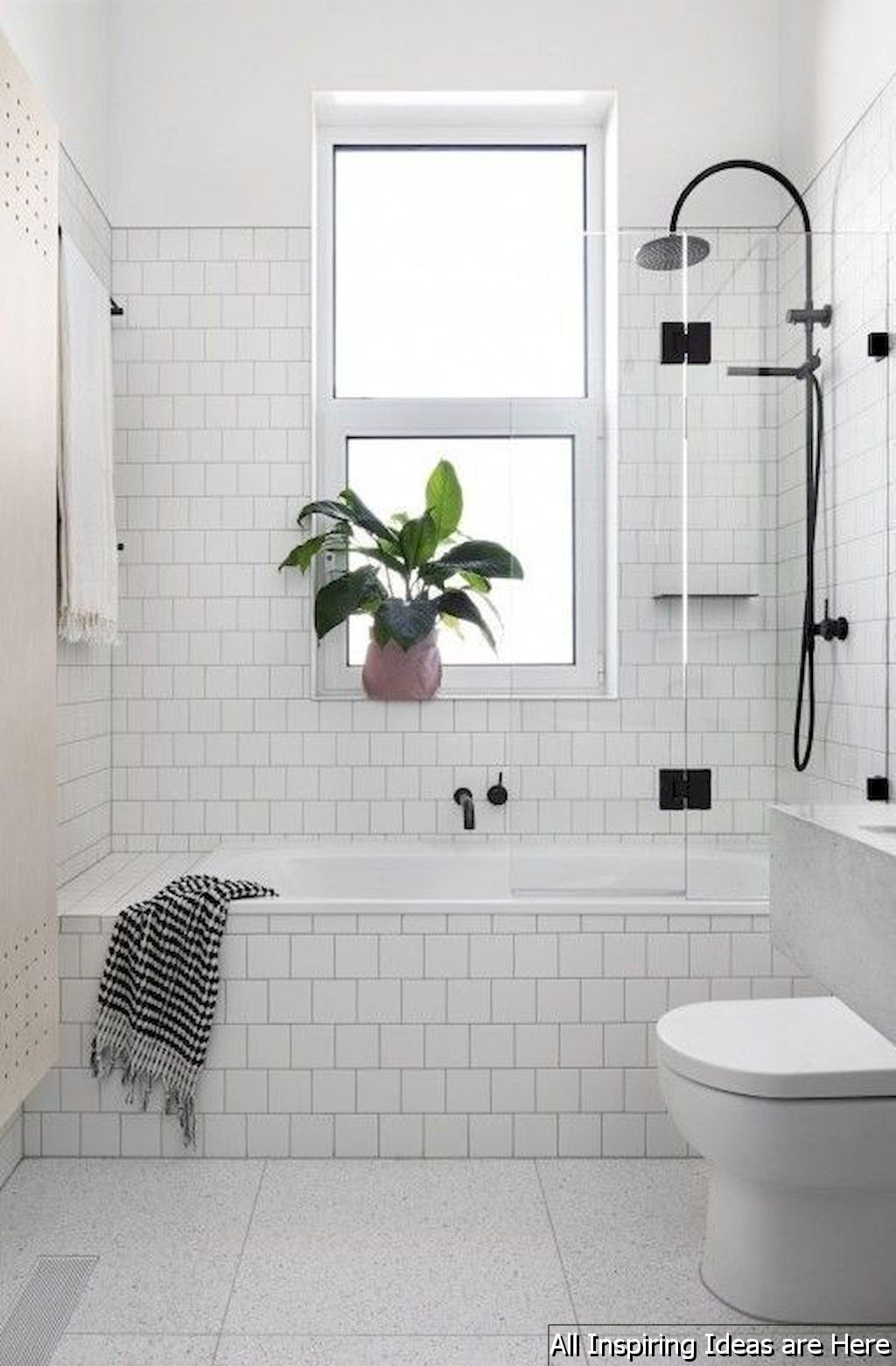 40 Minimalist Modern Farmhouse Small Bathroom Decor Ideas | Modern ...