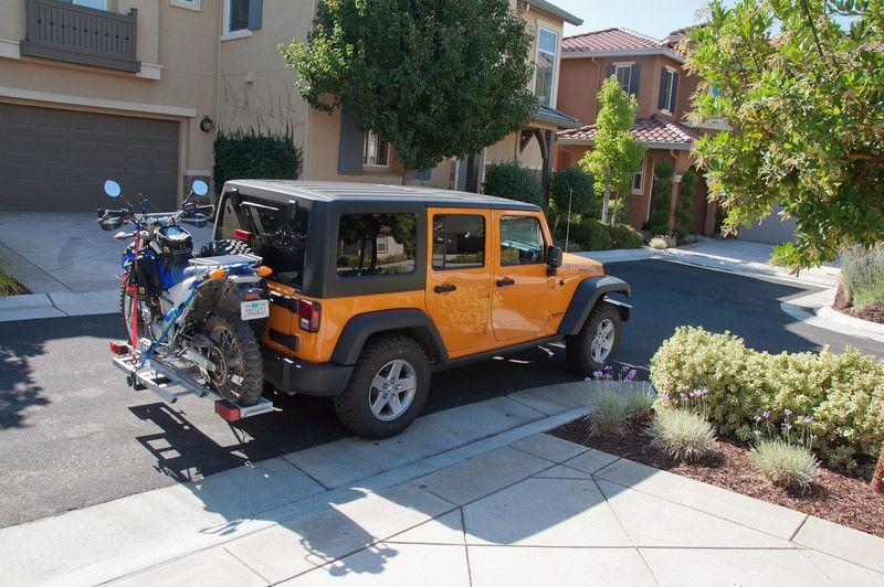 Jeep Wrangler Unlimited Custom Motorcycle Carrier Autos Y Motos