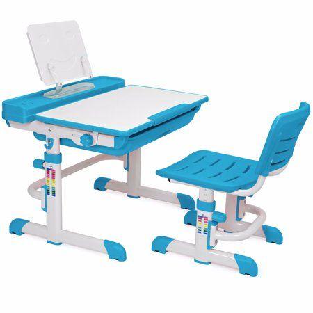 Home Adjustable Height Table Kids Study Desk Childrens Desk Chair