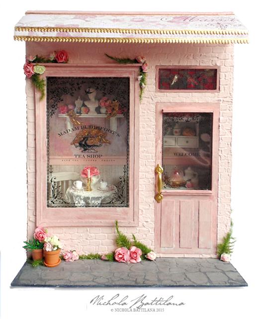 Madam Puddifoot's Tea Shop - Harry Potter Miniature - Nichola Battilana