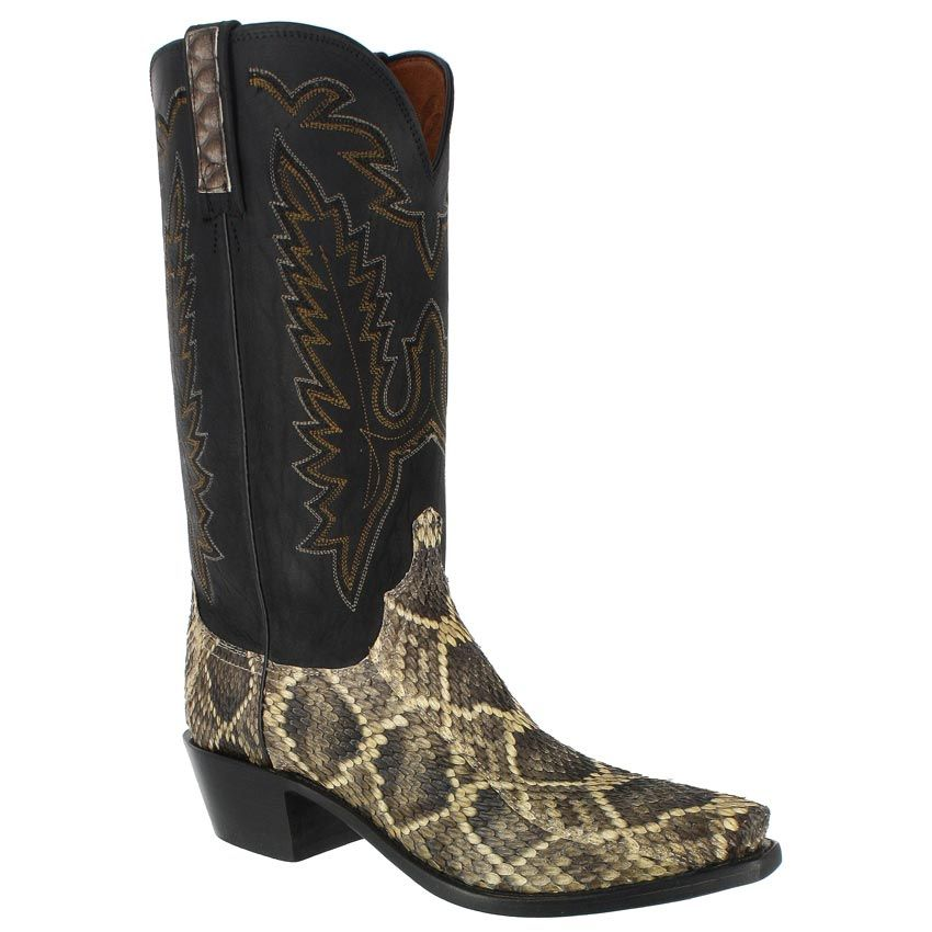 Lucchese Men S Eastern Rattle Snake Western Boots