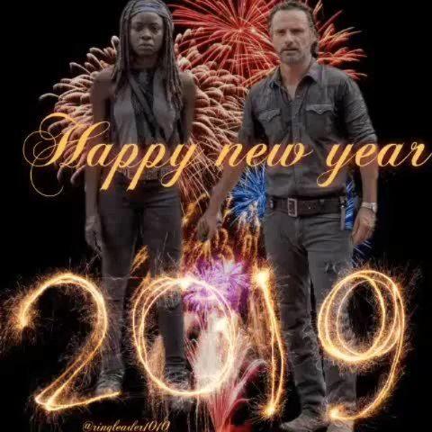 2019🌟HAPPY NEW YEAR | The Walking Dead (AMC) | Amc, Happy ...