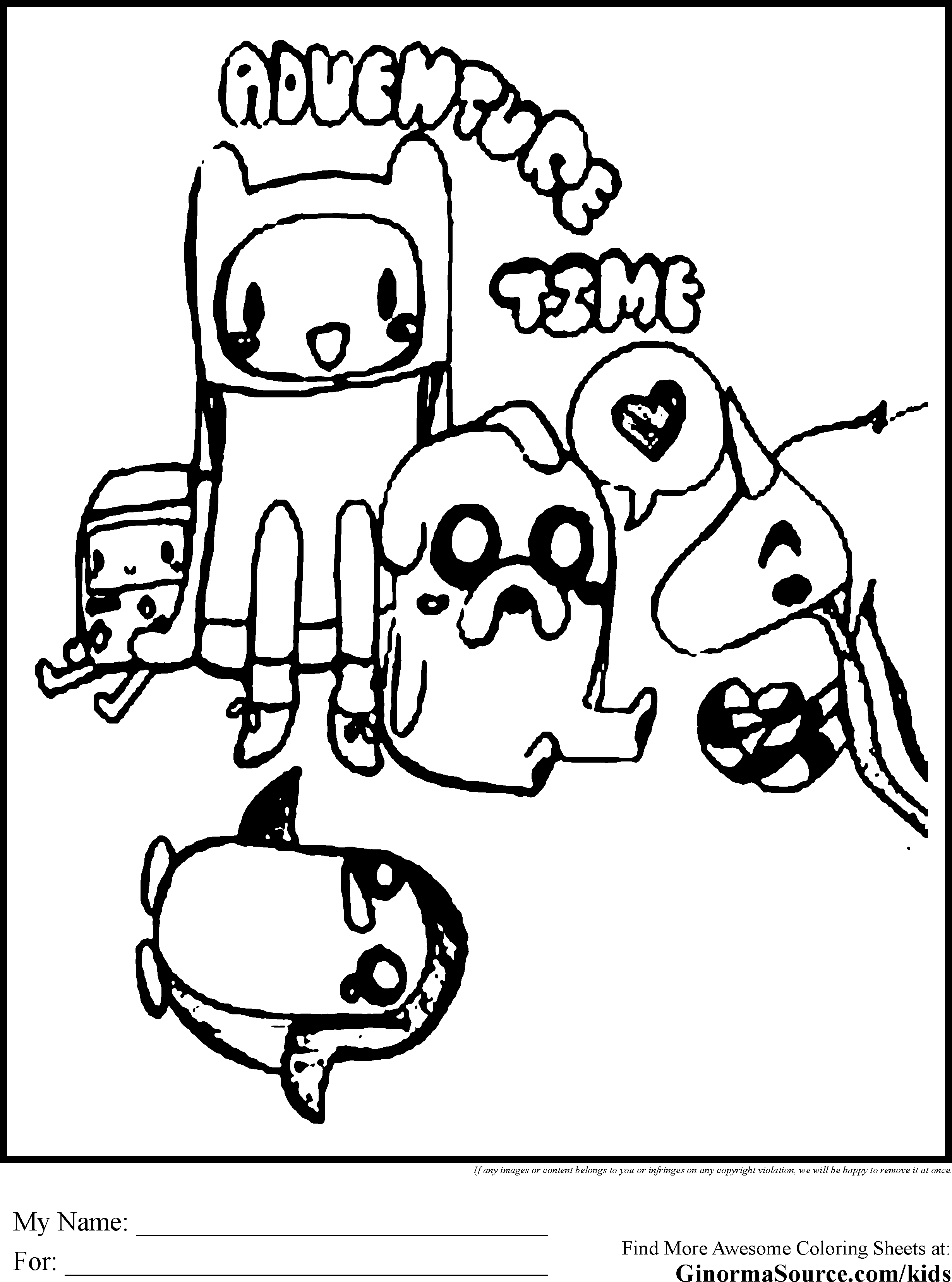 Adventure Time Coloring Pages Printable Wallpapers