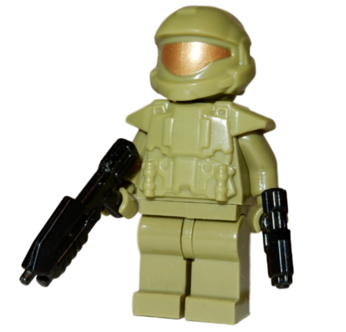 Master Chief Block Minifigure GLOW IN THE DARK HALO SPARTAN **NEW** Custom