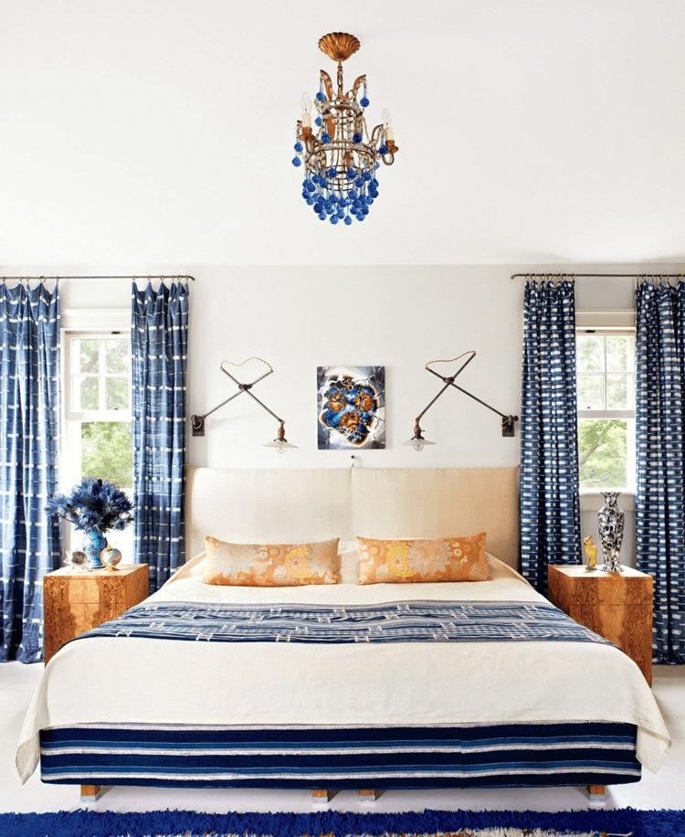 maritim schlafzimmer design weiß und blau mit bildern