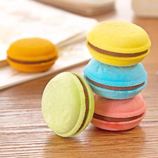Mini Macaron Eraser Set Products Macarons Pastel Colors