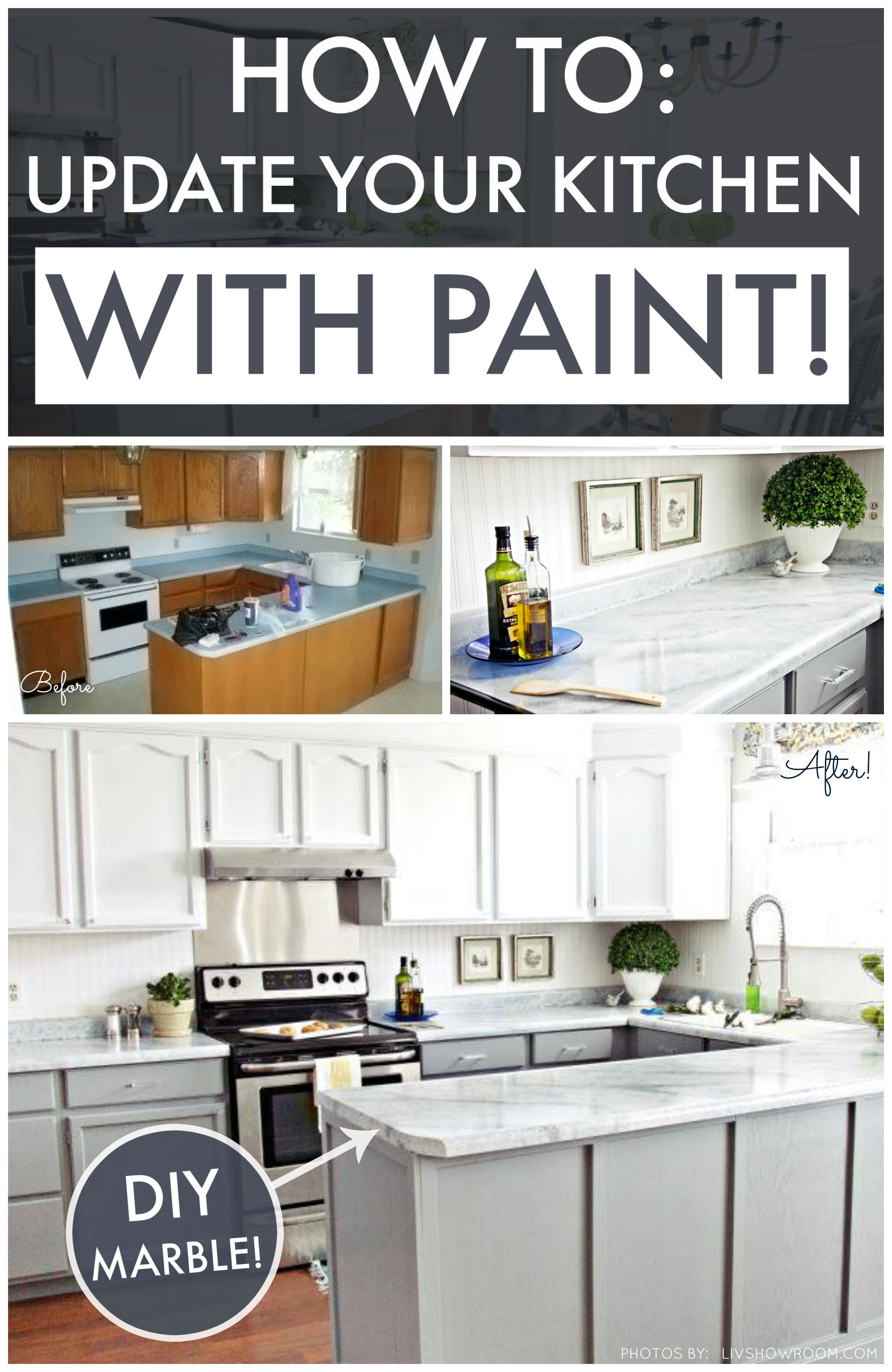 DIY Kitchen Makeover On A Budget Giani Granite Countertop Paint - Kitchen countertop paint kits