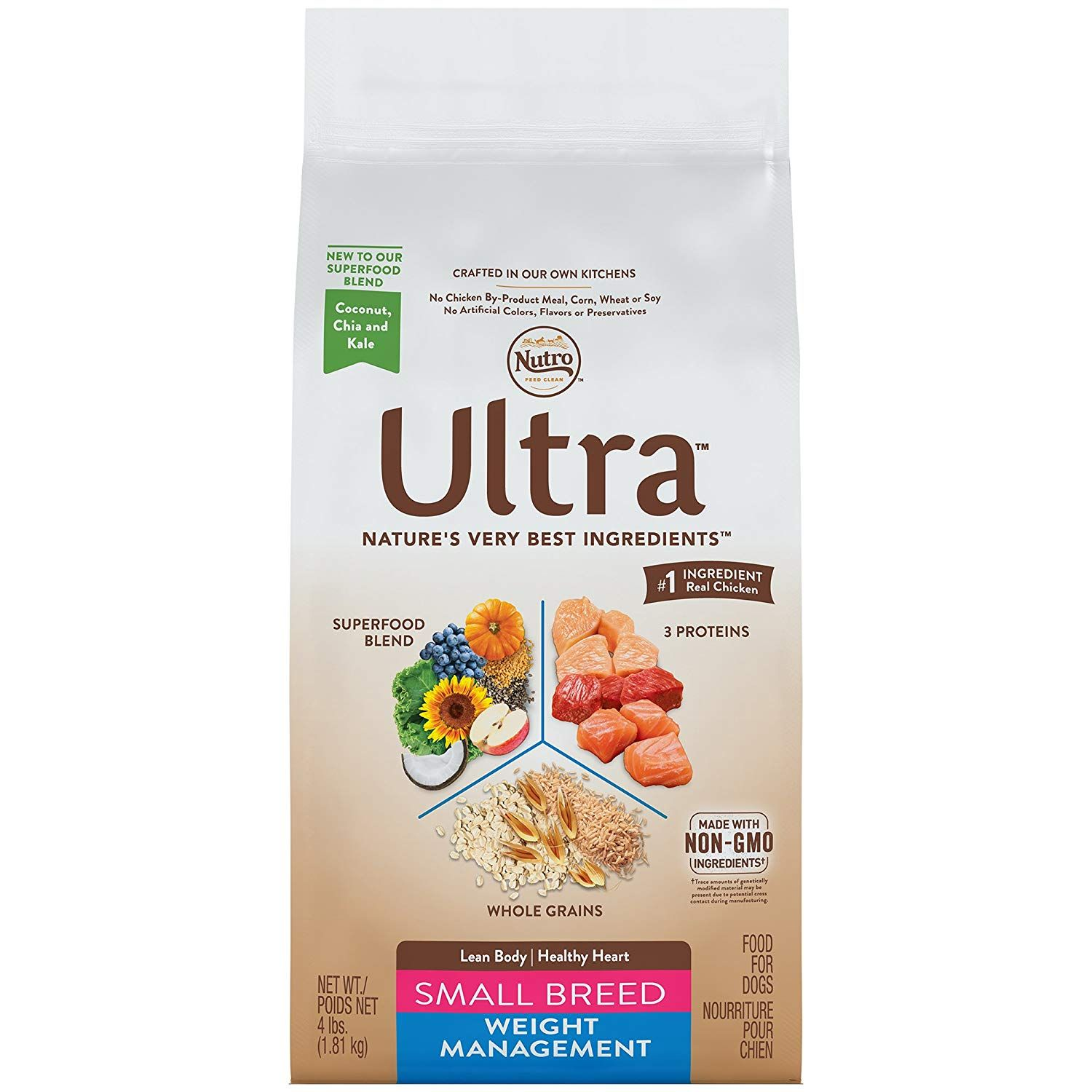 Nutro Ultra Small Breed Adult Weight Management Dry Dog Food 4