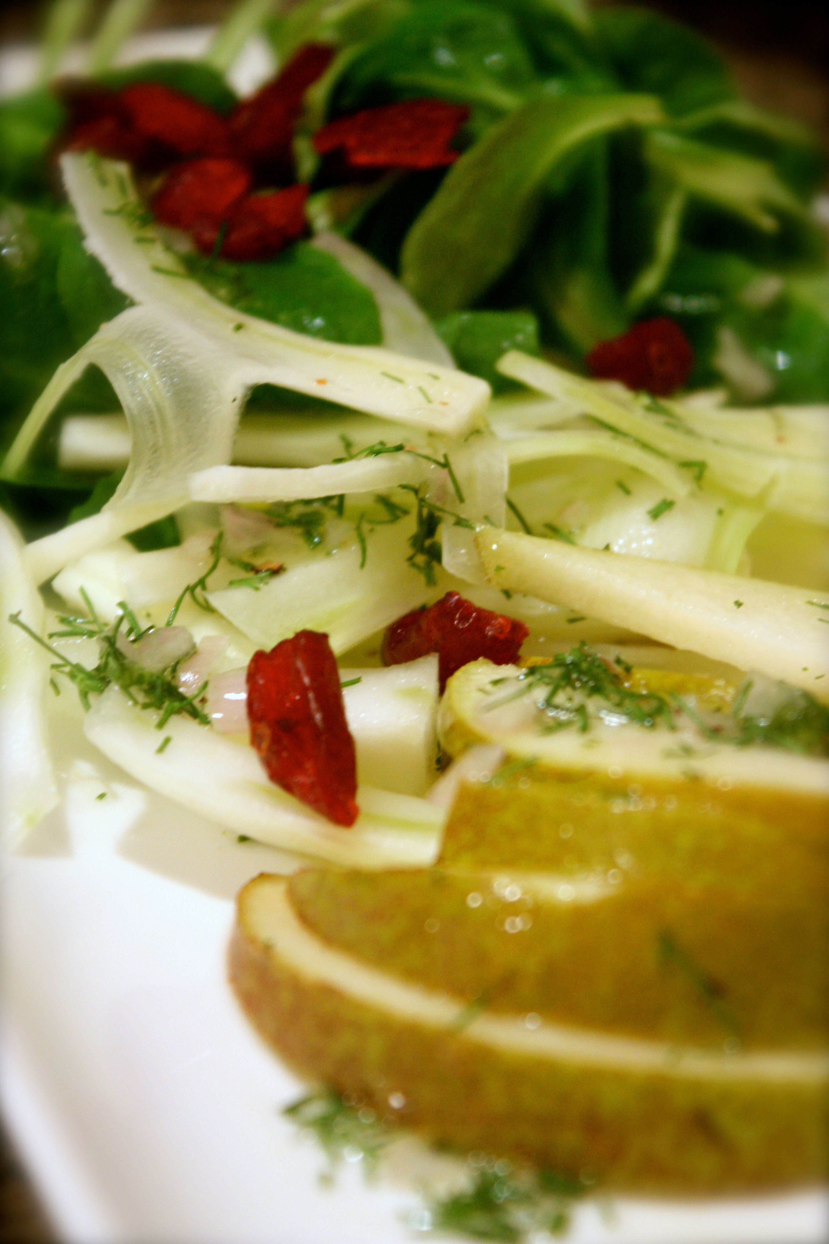 Mâche Salad with Fennel and Seckel Pears | via Tram Le, MS, RD, LD