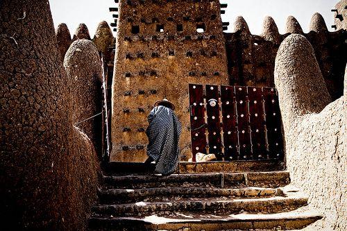 Gate of Djenne mosk, Mali