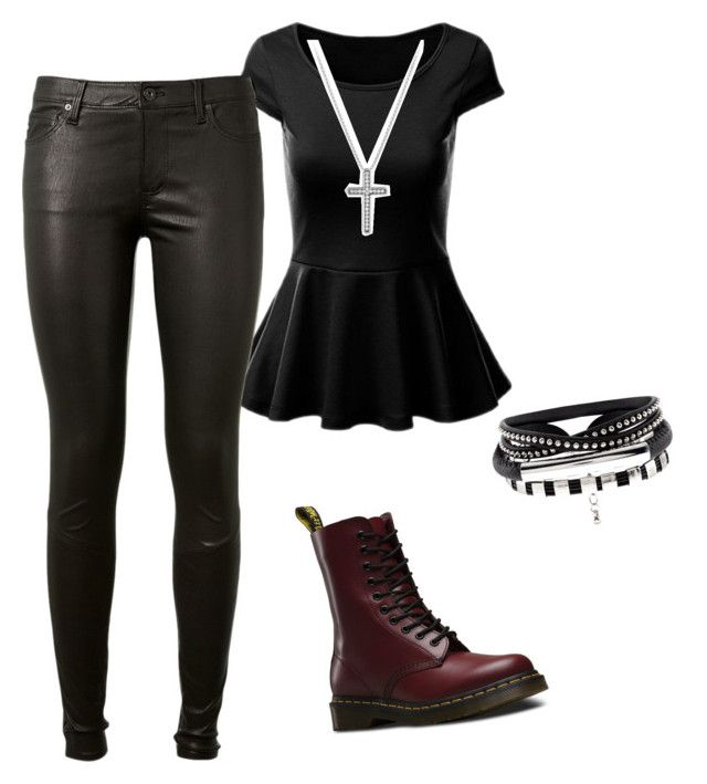 """Untitled #123"" by suri-rodriugez on Polyvore featuring AG Adriano Goldschmied, Dr. Martens and David Yurman"
