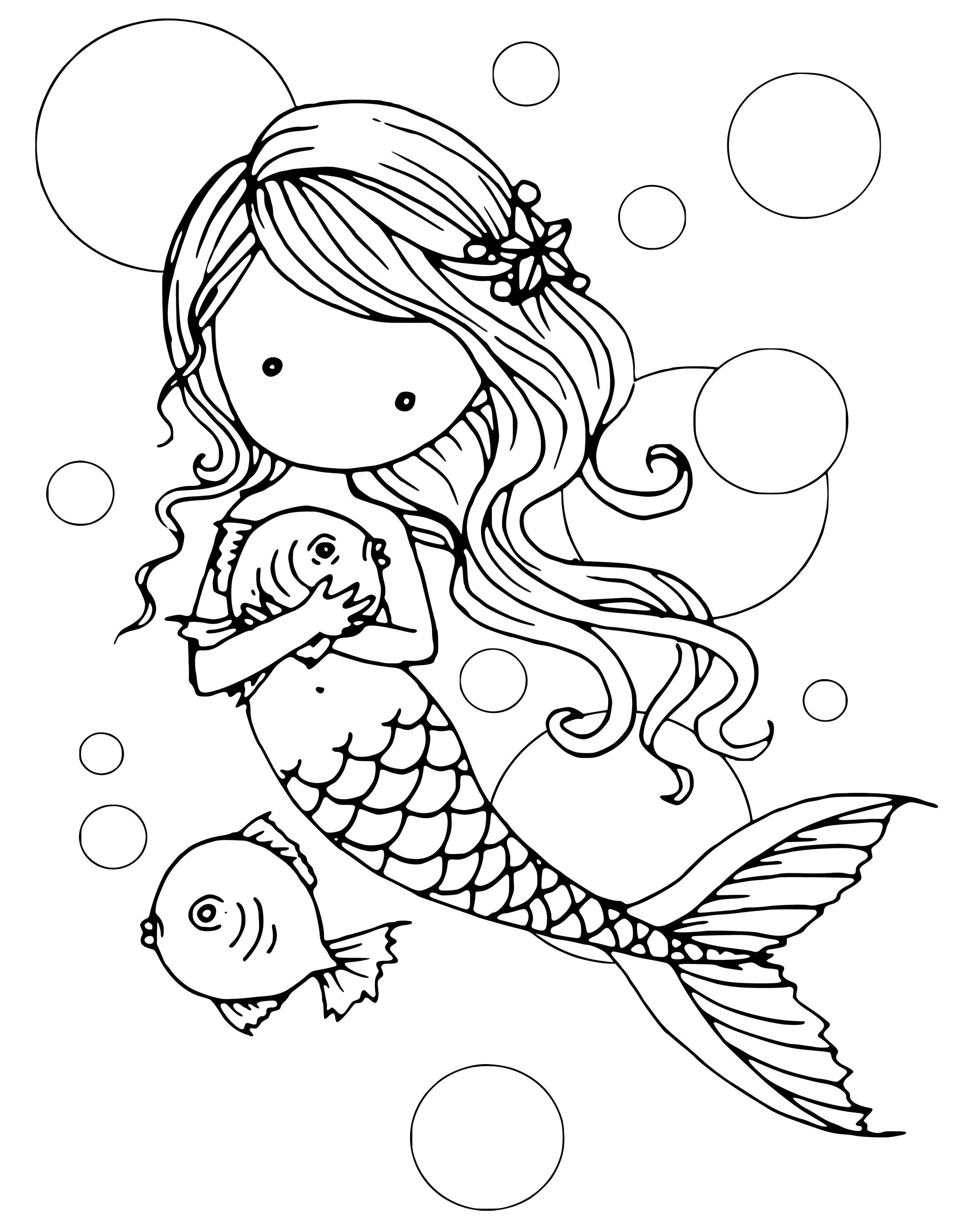 Free Printable Coloring Pages For Adults Mermaids - doraemon