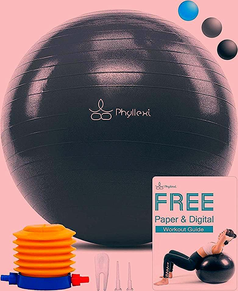 Exercise Ball, Yoga Ball 50% off after the Code: 8RZN5C73 Discount code for yoga ball blue & grey al...