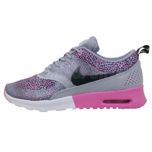 3b88a02f1d Nike Wmns Air Max Thea Print Polka Dot Grey Pink 2014 Womens NSW Running  Shoes