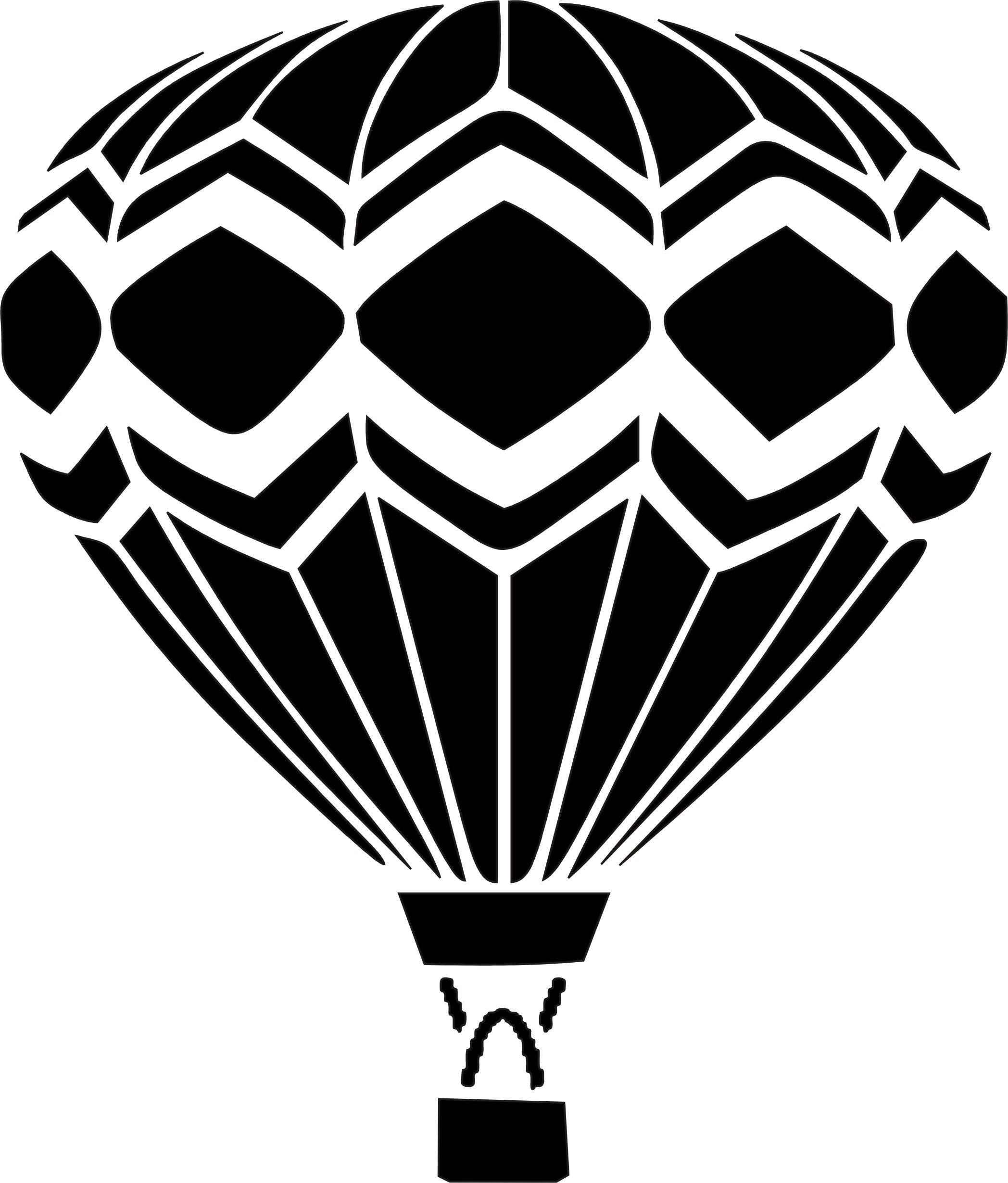 Eigenmarke Stencil Schablone Heißluft Ballon Graffiti