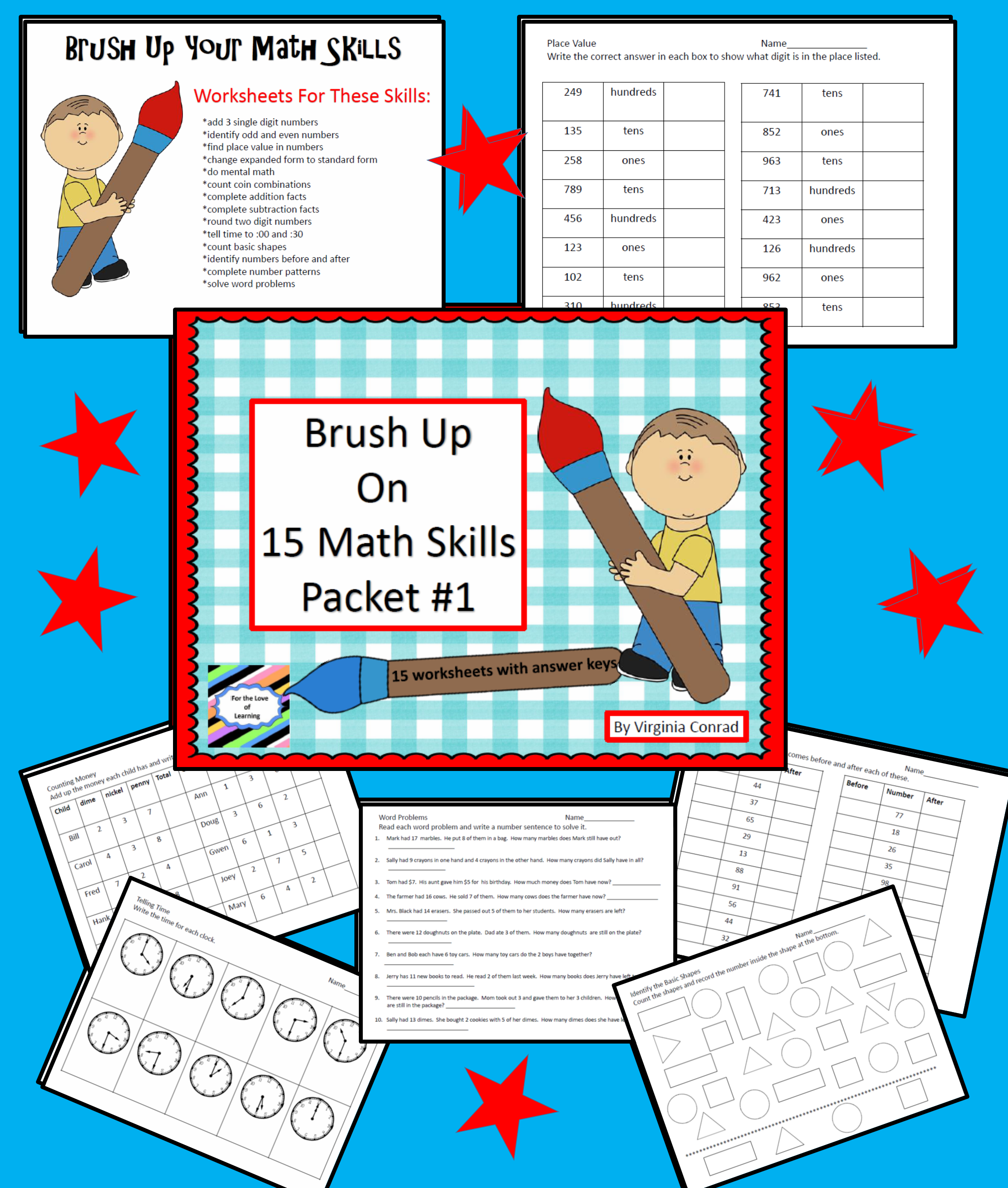 Brush Up on Math Skills---Packet #1 | For Educators | Pinterest ...