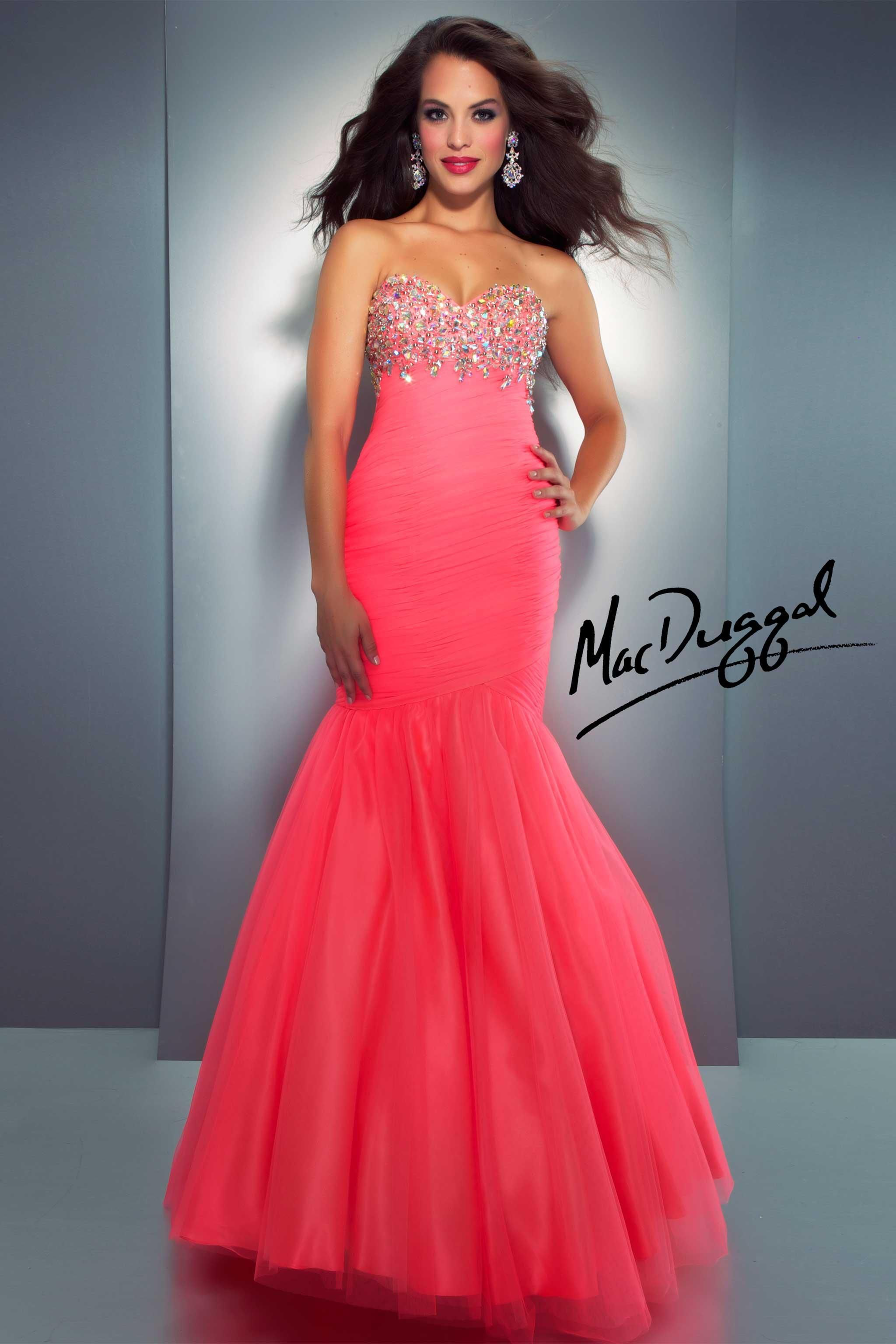 Neon Coral Mermaid Prom DressCOLLECTION:Cassandra Stone STYLE ...