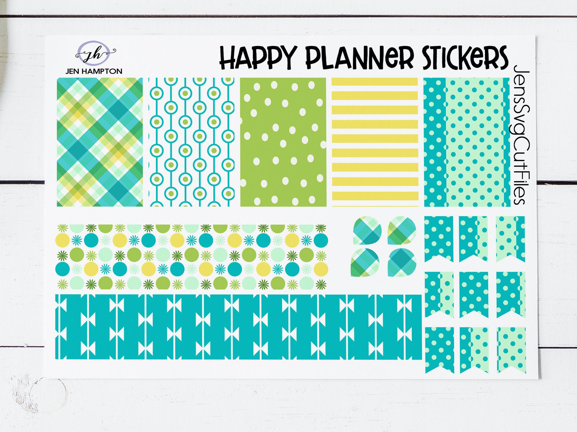 free happy planner sticker template psd great for cricut users