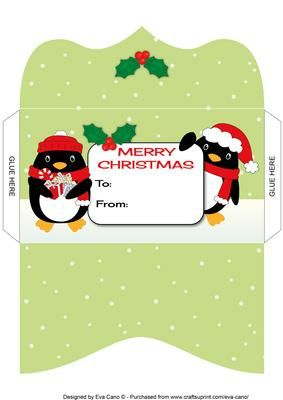 Christmas Penguins Money Wallet 3 Card Making Christmas Envelopes Christmas Envelope Template Christmas Money