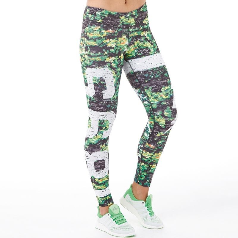 Buy Reebok Womens Speedwick All Over Print Tight Leggings Camo