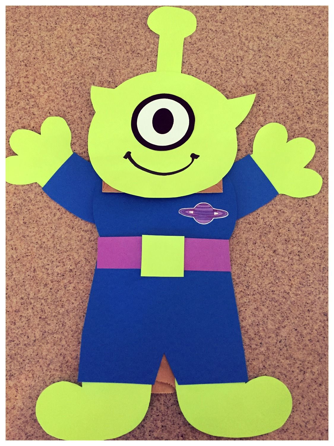 Kidfunideas Alien Paper Bag Puppet A Fun And Easy Space Themed Craft For