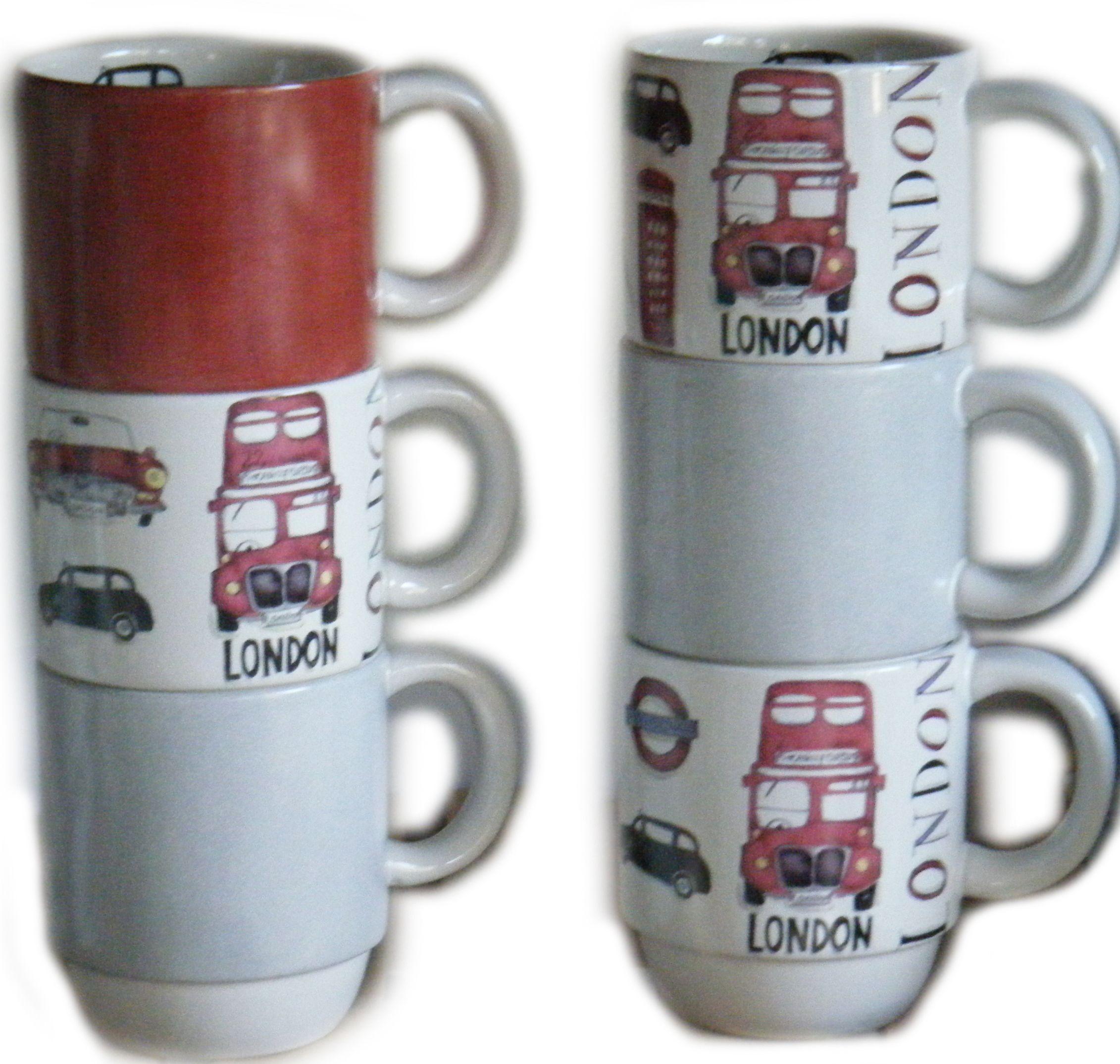 Para tu cocina en tonos grises y rojos..set London #arthomedesigns #arthomemarket #vajilladivertida #vajillapintadaamano #vajilla #lovecolors #lovedesign