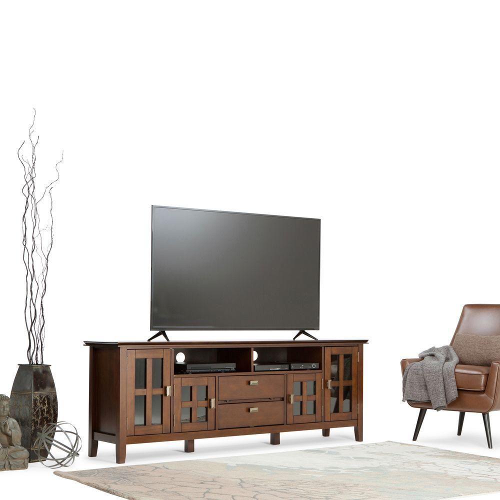 Artisan Medium Auburn Brown Storage Entertainment Center | Products