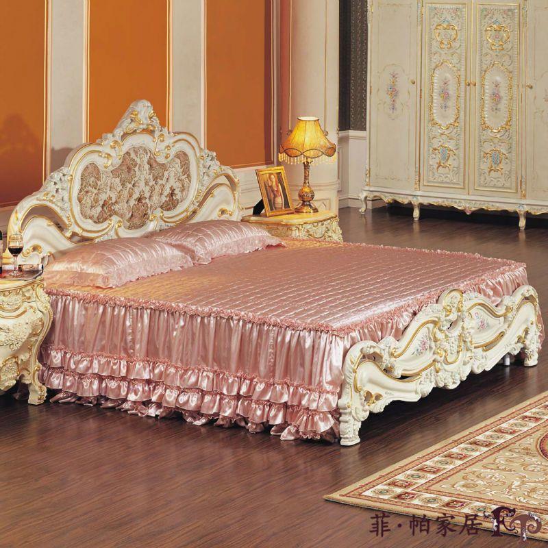 Francia estilo muebles de dormitorio muebles de teca tallada a mano ...