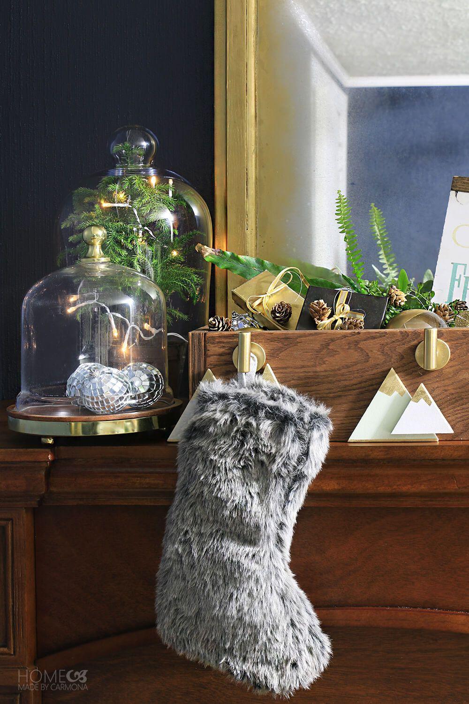 DIY Christmas Stocking Hanger Box Christmas stocking