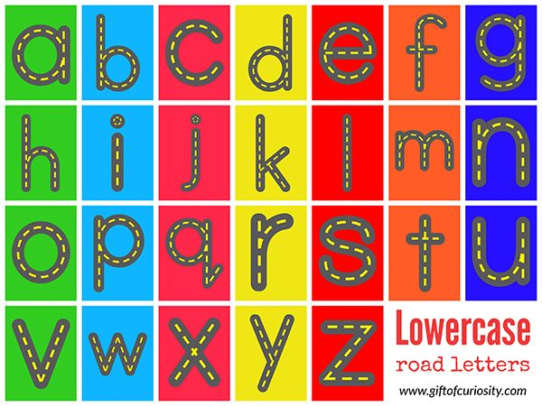 Free Road Letters Printable For Learning The Alphabet  Writing