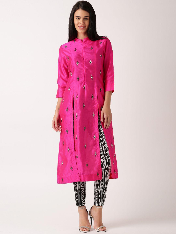 7707208b98 Buy IndusDiva By Neeta Lulla Pink Silk Churidar Kurta - - Apparel for Women  from IndusDiva at Rs. 5999