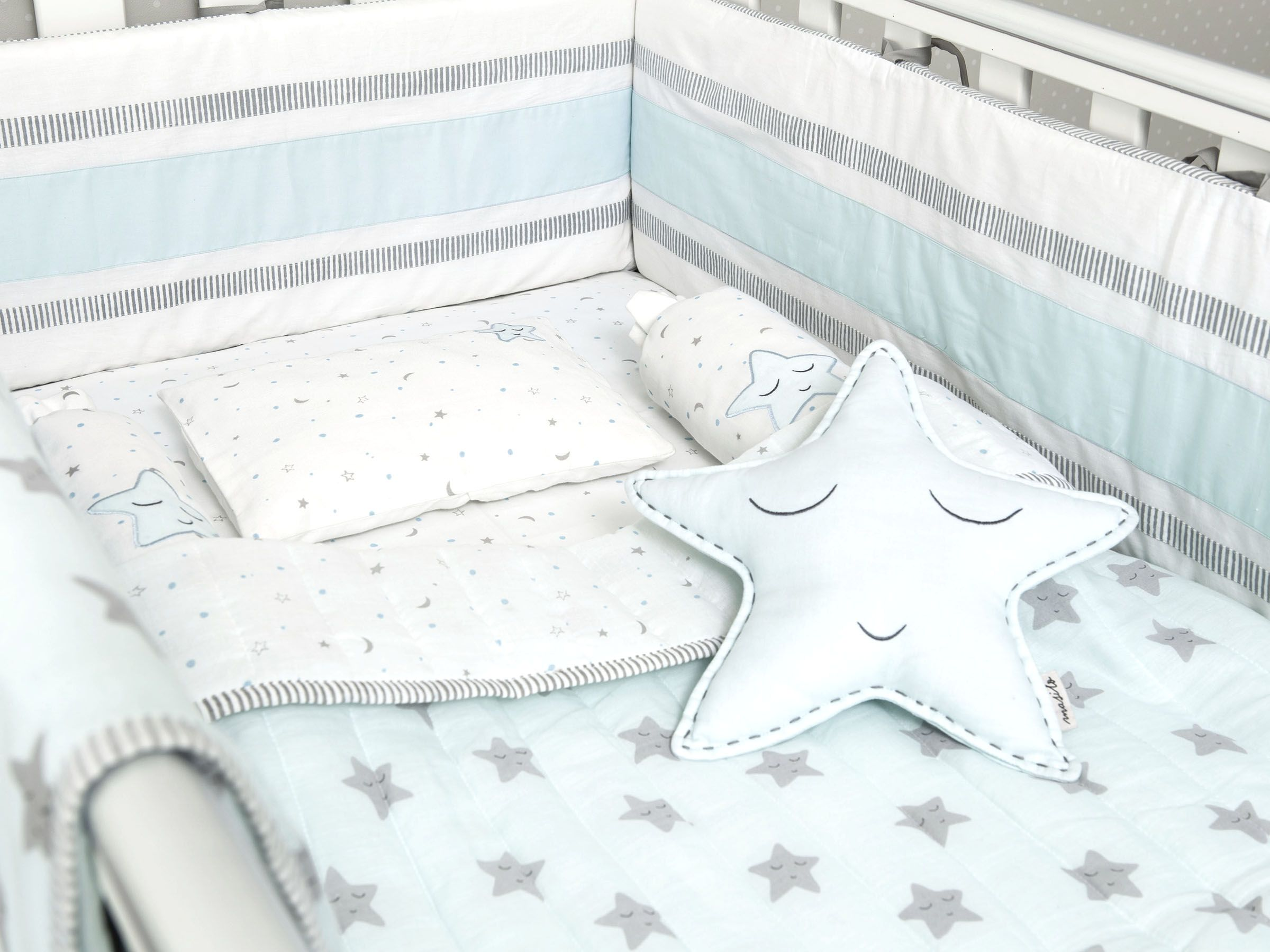 crib grey cot camo quilt blue sets baby bed bedding nursery nautical boy themes