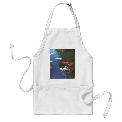 #template - #Home Kitchen Apron Red Fishes