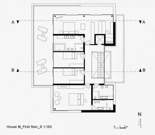 Casa toda branca com planta arquitetura e decora o for Modelos de casas minimalistas de una planta