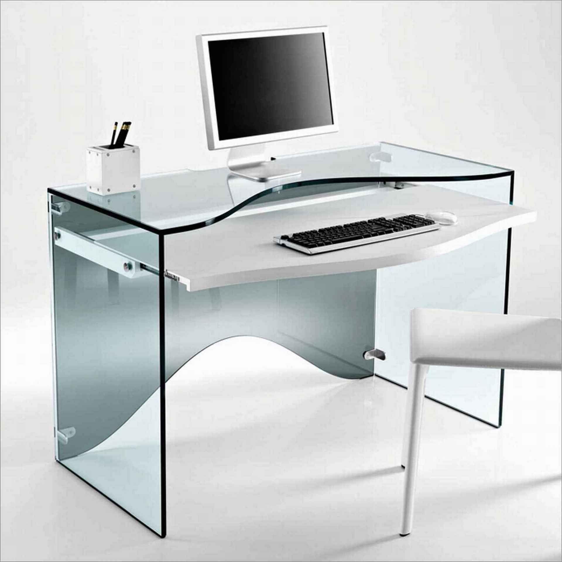 20 Compact Glass Computer Desk Ideas For Decorating A Desk Check More At Http Michael Computer Desk Design Modern Home Office Furniture Modern Small Desk