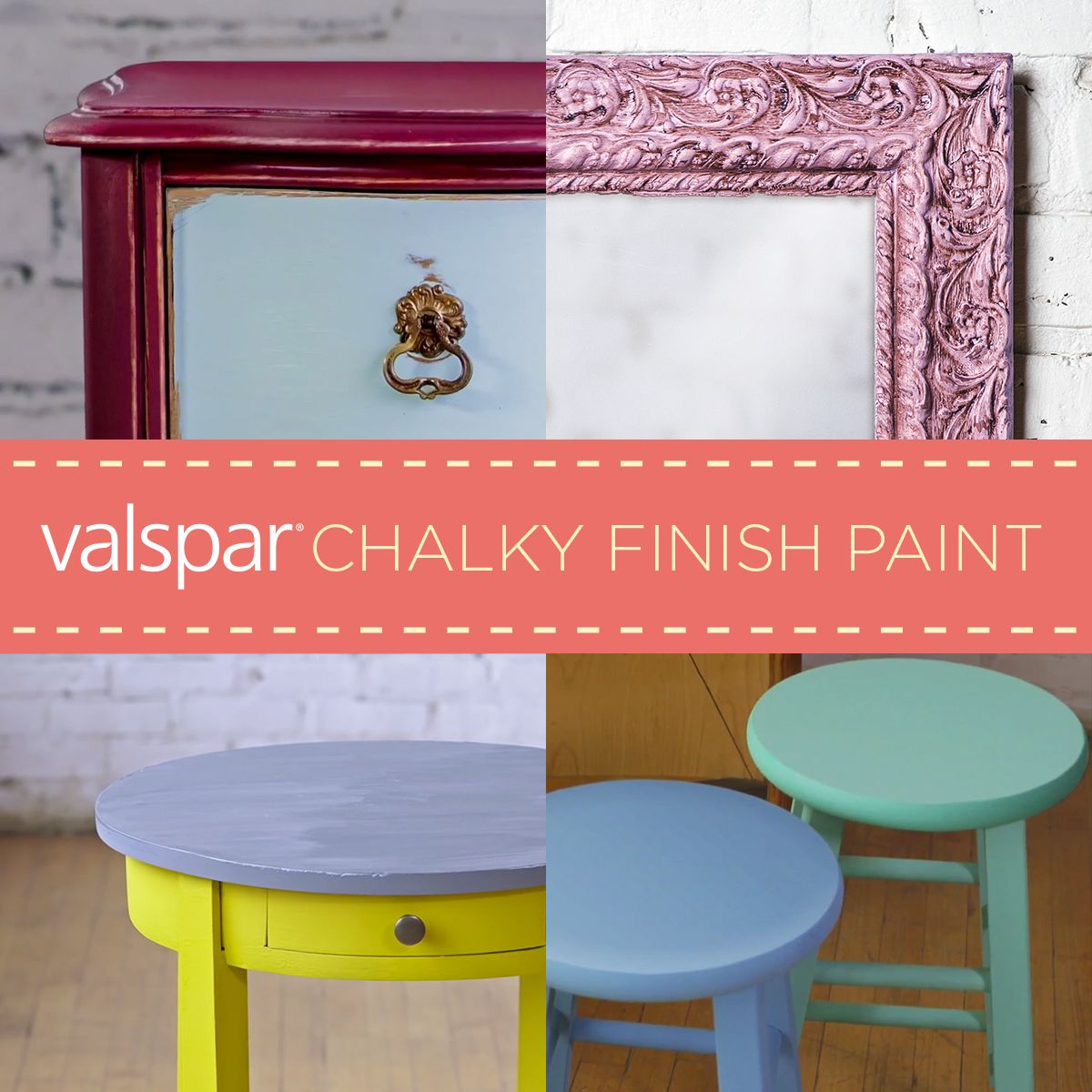 valspar chalky finish paint is a durable decorative paint that s velvety to the touch and matte. Black Bedroom Furniture Sets. Home Design Ideas