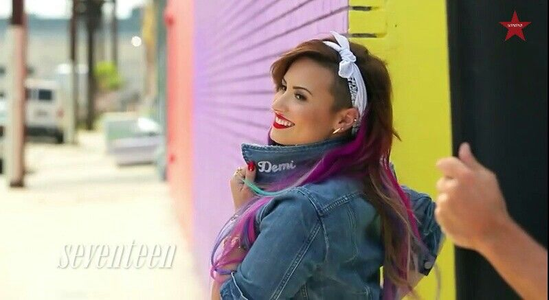 Demi Lovato on the cover of Seventeen Magazine - August 2014.