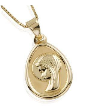 dc131fdfa2e Medalla de Oro de la Virgen Niña. Perfecto para Primera Comunión. Oro de  Primera Ley. #medalla #oro #nina #virgen #primera #ley #comunion #joyas