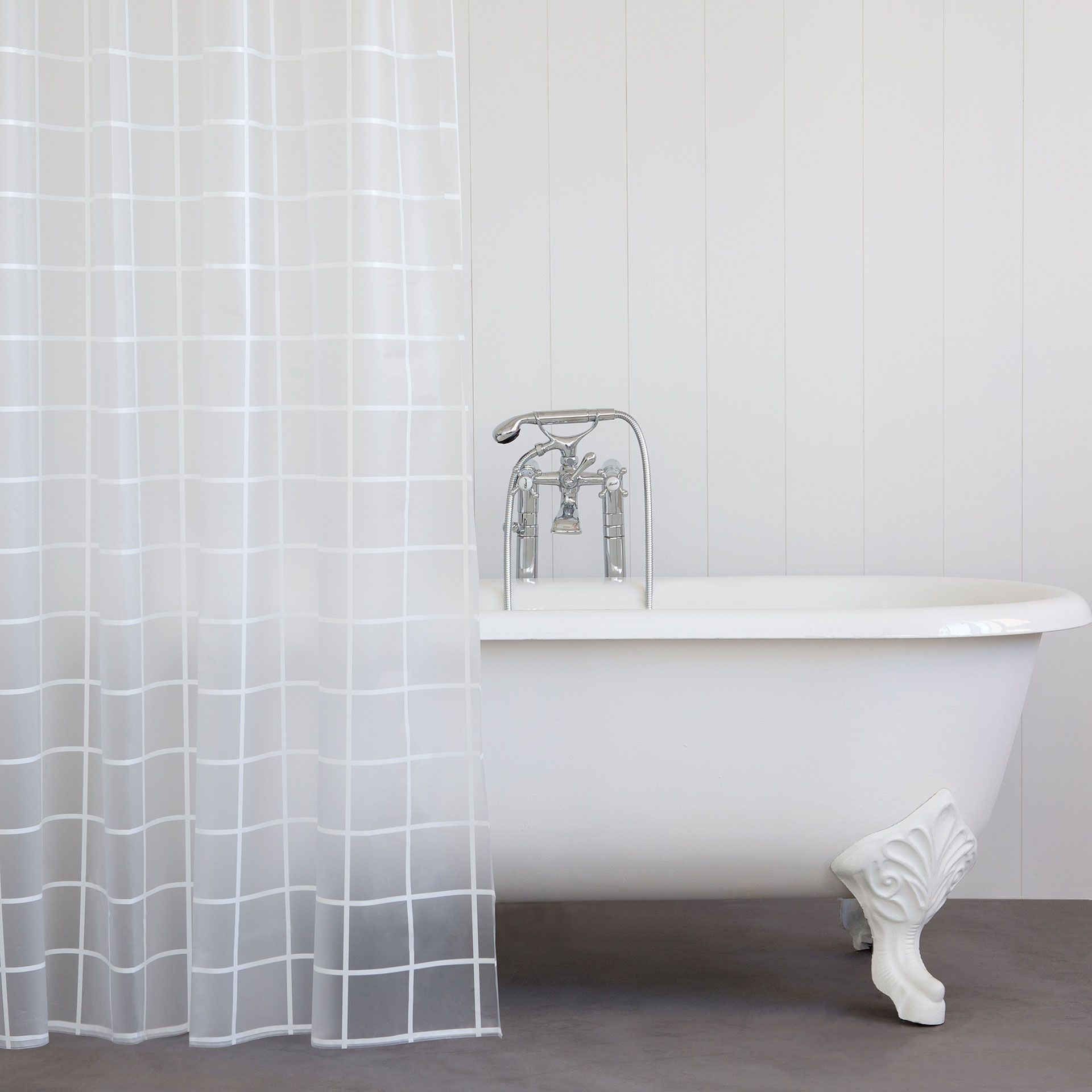 Image 1 Of The Product Checked Shower Curtain