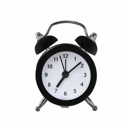 Mini Round Alarm Clock Desktop Table Bedside Clocks Kids Adults Travel Clock Decor Walmart Com In 2021 Black And White Aesthetic App Icon Png Icons