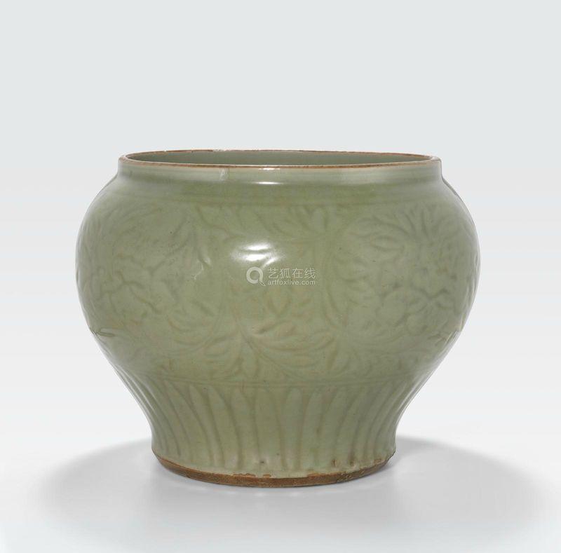 A Large Longquan Celadon Jar Guan Ming Dynasty 13681644