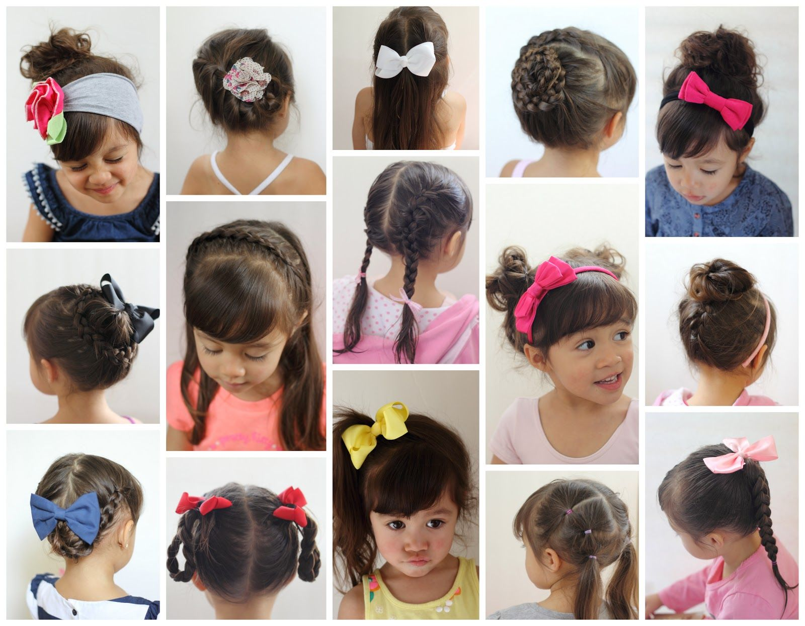 16 Toddler Hair Styles To Mix Up The Pony Tail And Simple Braids Dutch Braids French Braid Side Pony Tail Brai Toddler Hair Baby Girl Hair Kids Hairstyles