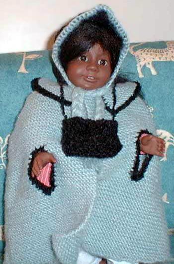 American Girl Doll Cape Knitting Pattern Doll Amigurumi Diy