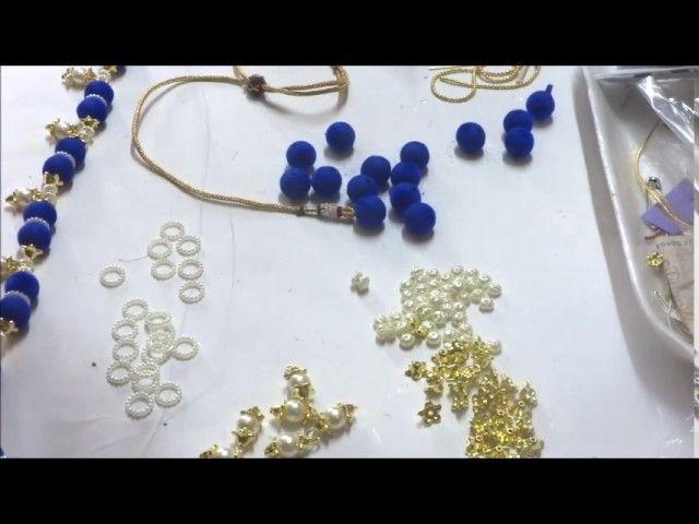 Easy making of Velvet beads Long chain. Hobby Jewelry