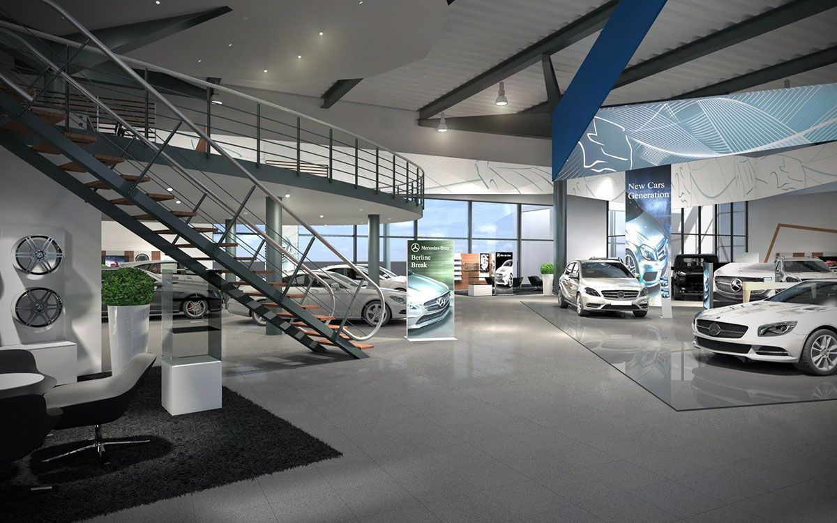 Showroom interior concept for mercedes benz belgium on for Mercedes benz belgium