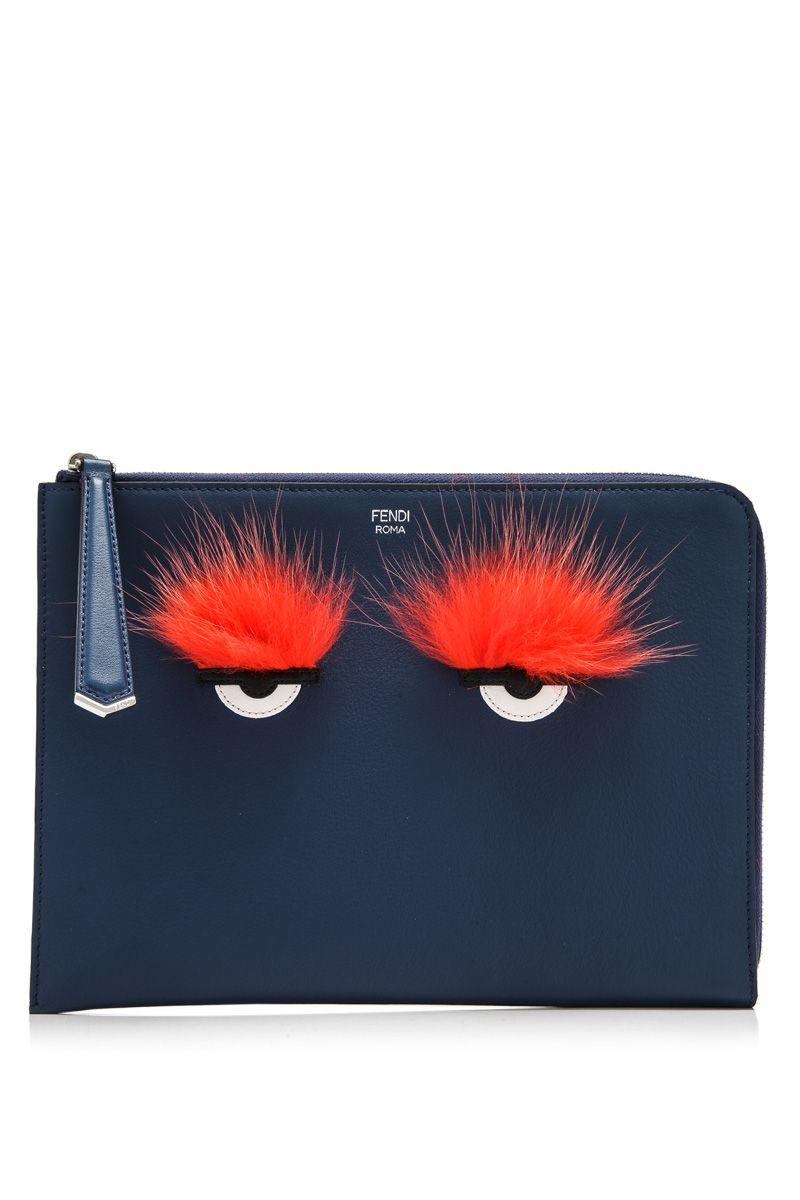 Fendi Bag Bugs Clutch  f9338c05eeb1f
