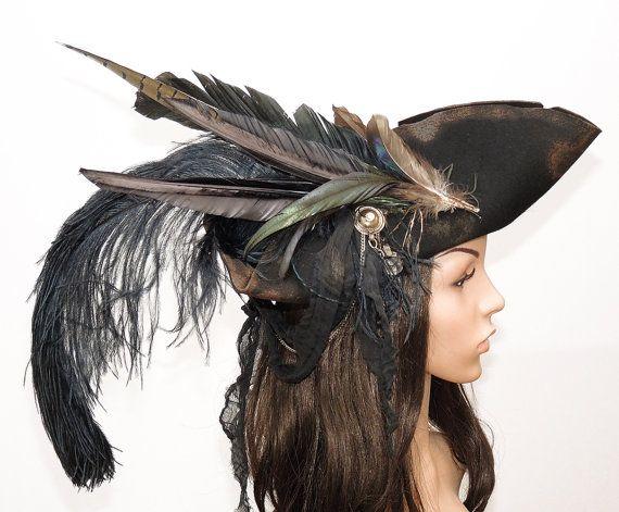 06b3ece9d85 Pirateshat Pirate hat pirate tricorn Carnival Carnival Fedora game captain